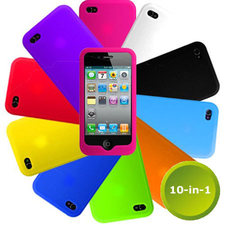 Colorful Silicone Cases for Your iPhone 4!