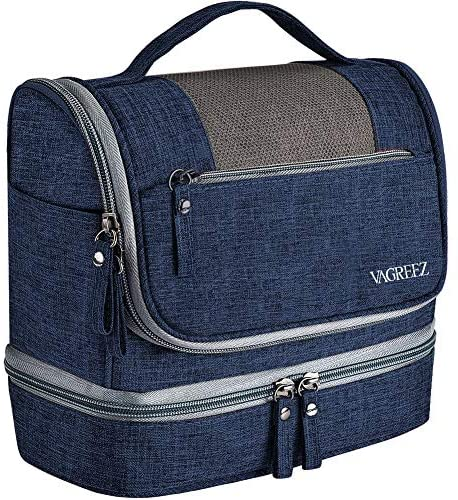 Toiletry Bag, VAGREEZ Upgraded Hanging Travel Toiletry Organizer Kit with Heavy-duty Zippers Waterproof Comestic Bag Dop Kit for Men or Women